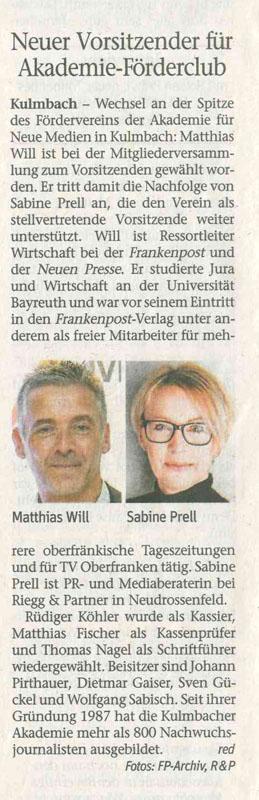 Matthias Will ist neuer Vorsitzender unseres Fördervereins